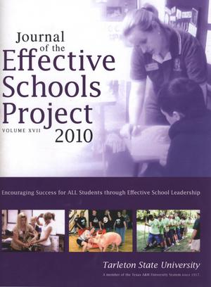 Primary view of object titled 'Journal of the Effective Schools Project, Volume 17, 2010'.