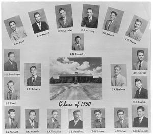 Primary view of object titled 'Individual pictures of the Class of 1950'.