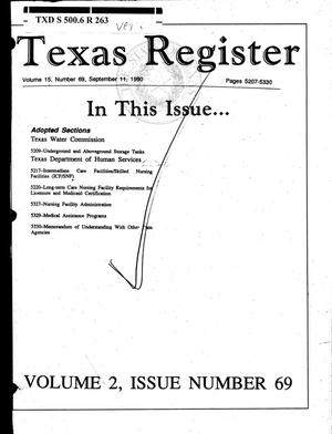 Primary view of Texas Register, Volume 15, Number 69, (Volume 2), Pages 5207-5330, September 11, 1990
