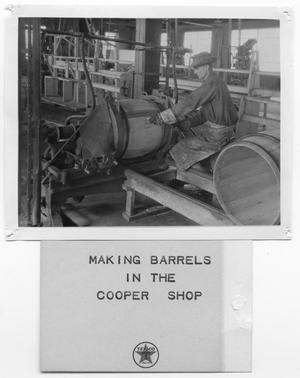 Primary view of object titled '[Barrel Construction]'.