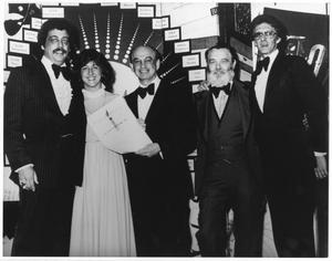 Primary view of object titled '[Photograph of Bill Hall with Four People a a BMI Event]'.