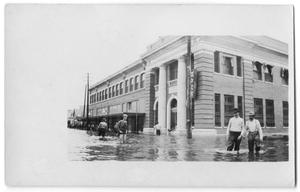 [Bank Building During Flood]