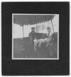 Primary view of object titled '[Man and Daughter at Sabine Lake]'.