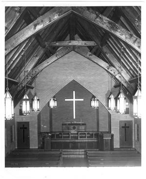 Primary view of object titled 'Birkman Chapel near pulpit'.