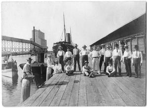 [Photograph of Men on a Dock, August 10, 1901]