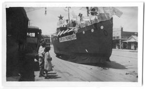 Primary view of object titled '[Boat in a Parade]'.