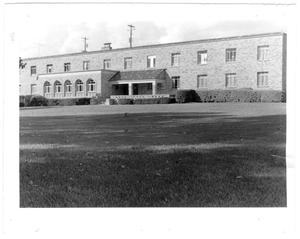 Primary view of object titled 'Behnken Hall dormitory exterior'.