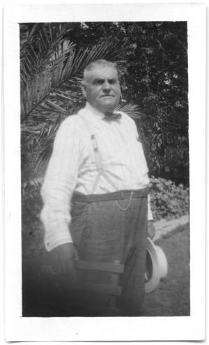 Primary view of object titled '[Man in Suspenders]'.