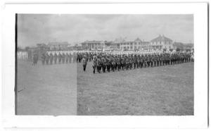 Primary view of object titled '[Military Lineup]'.