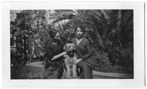 Primary view of object titled '[Two Women and Dog]'.