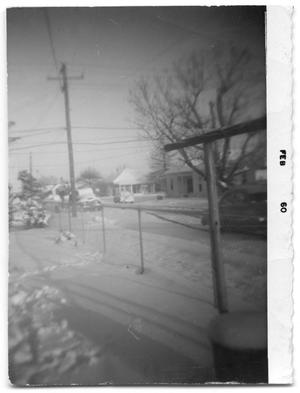 [Photograph of Snow in Port Arthur, Texas, February 1960]