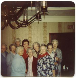 Primary view of object titled '[Photograph of Elderly Women at a High School Reunion]'.