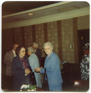 Primary view of object titled '[Photograph of Elderly People at a High School Reunion]'.