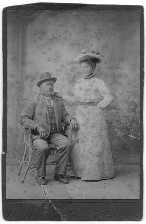 Primary view of object titled '[Photograph of August and Theresa Furchner, 1900]'.
