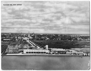 Primary view of object titled '[Postcard of Pleasure Pier in Port Arthur, Texas]'.