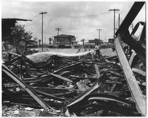 Primary view of object titled 'April 1959, YMCA Burns to the Ground - Nothing Saved'.