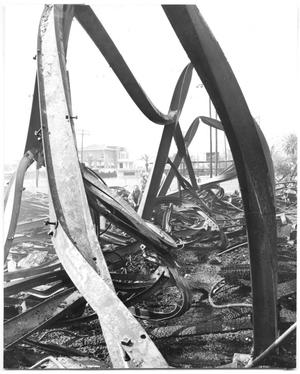 Primary view of object titled 'April 1959, Fire Destroyed the Port Arthur YMCA Building'.