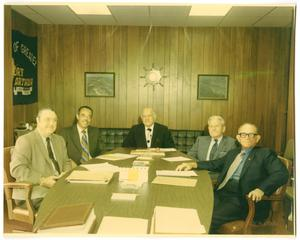 [Photograph of Officials in Port Arthur, Texas, 1971]