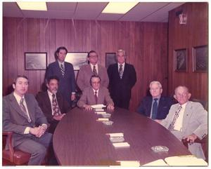 Primary view of object titled '[Photograph of Officials in Port Arthur, Texas, 1973]'.