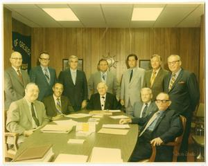 Primary view of object titled '[Photograph of Officials in Port Arthur, Texas, 1971]'.