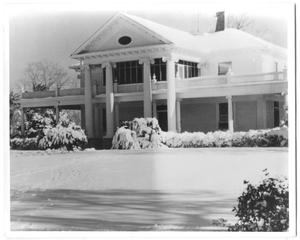 Primary view of object titled '[Rose Hill Manor House with Snow in the Early 1960's]'.