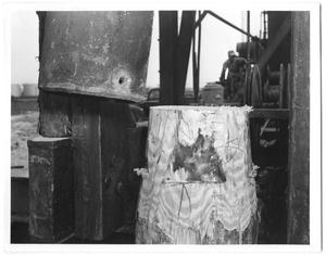 Primary view of object titled 'Wooden Pile Driven and Cut Off Square'.