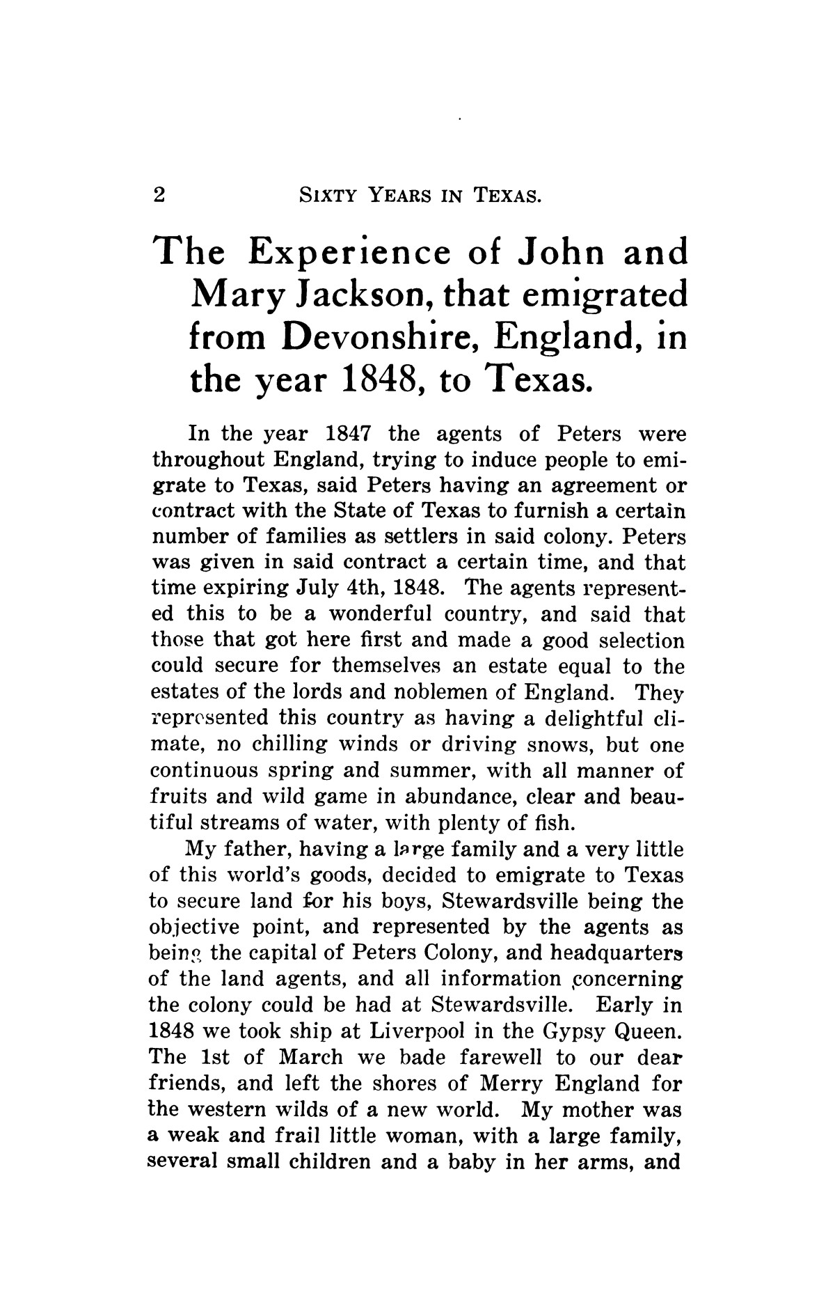 Sixty years in Texas                                                                                                      [Sequence #]: 12 of 398