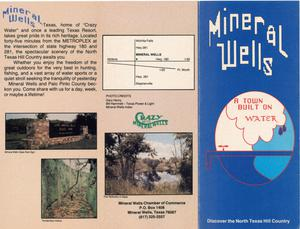"Primary view of object titled '[A Brochure, Titled ""Mineral Wells - A Town Built on Water""]'."