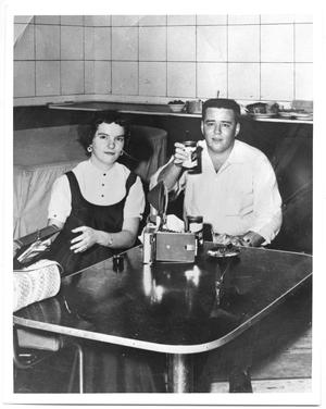 "Primary view of object titled '[Photograph of ""Big Bopper"" J. P. Richardson and Teetsie]'."