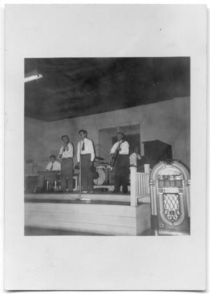 [Photograph of Jesse James and His Boys Performing]