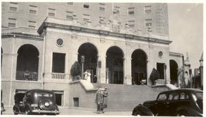 Primary view of object titled '[The Baker Hotel Entrance]'.