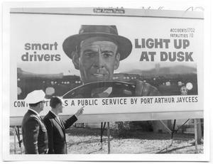 Primary view of object titled '[Billboard for Safe Driving]'.
