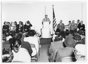 Primary view of object titled '[Dedication of Carver Elementary School]'.