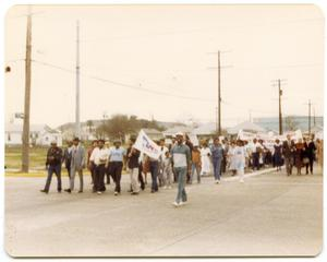 Primary view of object titled '[Group Marching Across Intersection]'.