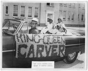 Primary view of object titled '[Car With King and Queen of Carver School]'.