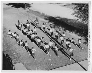 Primary view of object titled '[Elementary School Drill Team]'.
