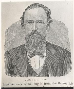 Primary view of object titled 'Judge J. A. Lynch'.