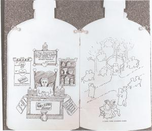 Primary view of object titled '[A Bottle-shaped Souvenir Booklet]'.
