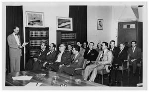 Primary view of object titled '[Group in Chamber of Commerce]'.
