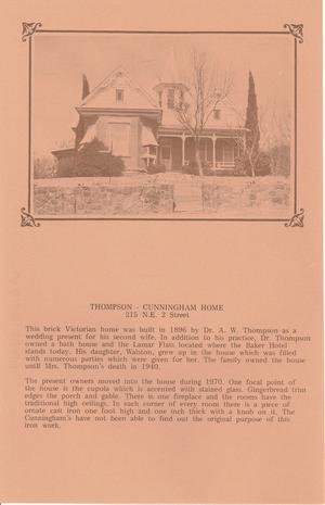 Primary view of object titled 'Thompson-Cunningham Home'.