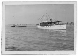 Primary view of object titled '[Yacht on Ocean]'.