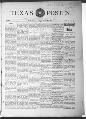 Texas Posten (Austin, Tex.), Vol. 1, No. 3, Ed. 1 Saturday, May 2, 1896