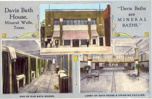 Primary view of object titled 'Davis Bath House   Mineral Wells, Texas'.