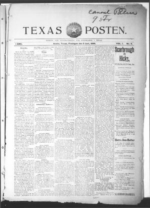 Primary view of object titled 'Texas Posten (Austin, Tex.), Vol. 1, No. 8, Ed. 1 Friday, June 5, 1896'.