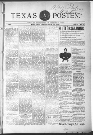 Texas Posten (Austin, Tex.), Vol. 1, No. 15, Ed. 1 Friday, July 24, 1896