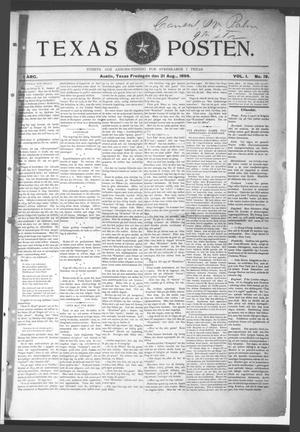 Texas Posten (Austin, Tex.), Vol. 1, No. 19, Ed. 1 Friday, August 21, 1896