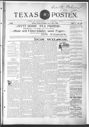 Texas Posten (Austin, Tex.), Vol. 1, No. 26, Ed. 1 Friday, October 9, 1896
