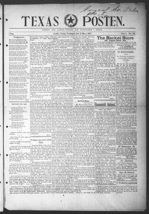 Primary view of object titled 'Texas Posten (Austin, Tex.), Vol. 1, No. 48, Ed. 1 Friday, March 12, 1897'.