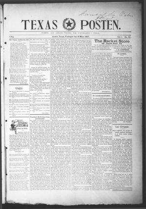Primary view of object titled 'Texas Posten (Austin, Tex.), Vol. 1, No. 49, Ed. 1 Friday, March 19, 1897'.