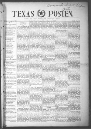 Primary view of object titled 'Texas Posten (Austin, Tex.), Vol. 2, No. 21, Ed. 1 Friday, September 3, 1897'.